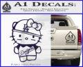Hello Kitty Dodgers Decal Sticker PurpleEmblem Logo 120x97
