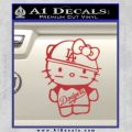 Hello Kitty Dodgers Decal Sticker Red 120x120