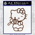 Hello Kitty Photography Decal Sticker Camera BROWN Vinyl 120x120