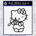 Hello Kitty Photography Decal Sticker Camera Black Vinyl 120x120