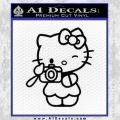 Hello Kitty Photography Decal Sticker Camera Black Vinyl 120x120