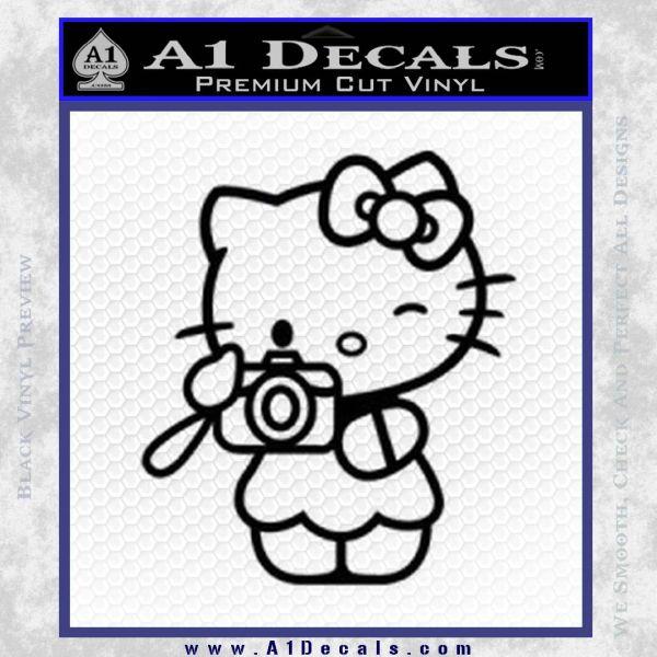 Hello Kitty Photography Decal Sticker Camera Black Vinyl