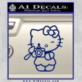 Hello Kitty Photography Decal Sticker Camera Blue Vinyl 120x120