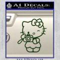 Hello Kitty Photography Decal Sticker Camera Dark Green Vinyl 120x120
