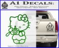 Hello Kitty Photography Decal Sticker Camera Green Vinyl Logo 120x97