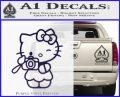 Hello Kitty Photography Decal Sticker Camera PurpleEmblem Logo 120x97