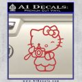 Hello Kitty Photography Decal Sticker Camera Red 120x120