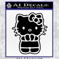 Hello Kitty Praying Decal Sticker Black Vinyl Black 120x120