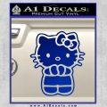 Hello Kitty Praying Decal Sticker Blue Vinyl Black 120x120