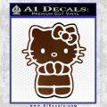 Hello Kitty Praying Decal Sticker Brown Vinyl Black 120x120
