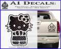 Hello Kitty Praying Decal Sticker CFB Vinyl Black 120x97