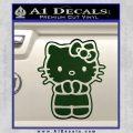 Hello Kitty Praying Decal Sticker Dark Green Vinyl Black 120x120