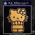 Hello Kitty Praying Decal Sticker Gold Metallic Vinyl Black 120x120