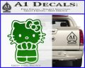 Hello Kitty Praying Decal Sticker Green Vinyl Black 120x97