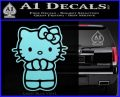 Hello Kitty Praying Decal Sticker Light Blue Vinyl Black 120x97
