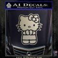 Hello Kitty Praying Decal Sticker Metallic Silver Vinyl Black 120x120