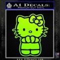 Hello Kitty Praying Decal Sticker Neon Green Vinyl Black 120x120