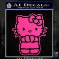 Hello Kitty Praying Decal Sticker Neon Pink Vinyl Black 120x120
