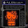 Hello Kitty Praying Decal Sticker Orange Emblem Black 120x120