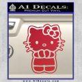 Hello Kitty Praying Decal Sticker Red Vinyl Black 120x120