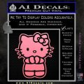 Hello Kitty Praying Decal Sticker Soft Pink Emblem Black 120x120