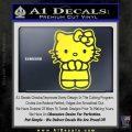 Hello Kitty Praying Decal Sticker Yellow Vinyl Black 120x120
