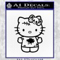 Hello Kitty Zombie Simple Decal Sticker Black Vinyl Black 120x120