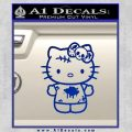 Hello Kitty Zombie Simple Decal Sticker Blue Vinyl Black 120x120