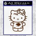Hello Kitty Zombie Simple Decal Sticker Brown Vinyl Black 120x120