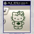 Hello Kitty Zombie Simple Decal Sticker Dark Green Vinyl Black 120x120