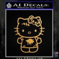 Hello Kitty Zombie Simple Decal Sticker Gold Metallic Vinyl Black 120x120