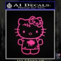 Hello Kitty Zombie Simple Decal Sticker Neon Pink Vinyl Black 120x120
