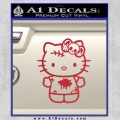 Hello Kitty Zombie Simple Decal Sticker Red Vinyl Black 120x120
