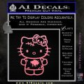Hello Kitty Zombie Simple Decal Sticker Soft Pink Emblem Black 120x120