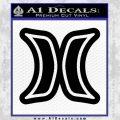 Hurley Logo D2 Decal Sticker Black Vinyl Black 120x120