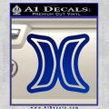 Hurley Logo D2 Decal Sticker Blue Vinyl Black 120x120