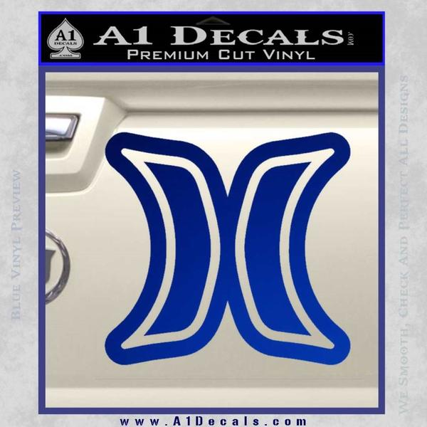 Hurley Logo D2 Decal Sticker Blue Vinyl Black