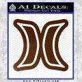 Hurley Logo D2 Decal Sticker Brown Vinyl Black 120x120