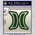 Hurley Logo D2 Decal Sticker Dark Green Vinyl Black 120x120