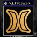 Hurley Logo D2 Decal Sticker Gold Metallic Vinyl Black 120x120