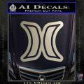 Hurley Logo D2 Decal Sticker Metallic Silver Vinyl Black 120x120