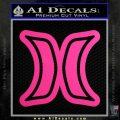 Hurley Logo D2 Decal Sticker Neon Pink Vinyl Black 120x120