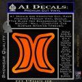Hurley Logo D2 Decal Sticker Orange Emblem Black 120x120