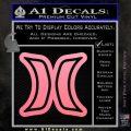 Hurley Logo D2 Decal Sticker Soft Pink Emblem Black 120x120