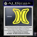 Hurley Logo D2 Decal Sticker Yellow Vinyl Black 120x120