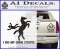 I Do My Own Stunts Decal Sticker Carbon FIber Black Vinyl 120x97
