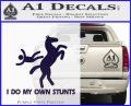 I Do My Own Stunts Decal Sticker PurpleEmblem Logo 120x97