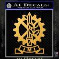 Imi Firearms Decal Sticker Gold Vinyl 120x120