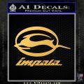 Impala Full Decal Sticker Gold Vinyl 120x120