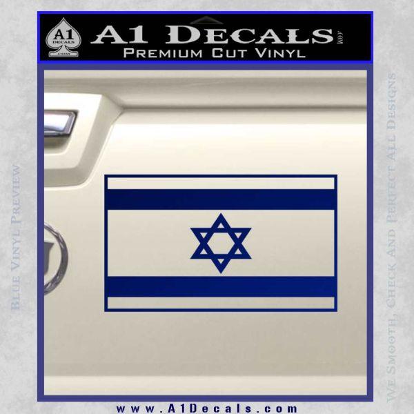 Israel Flag Decal Sticker Blue Vinyl